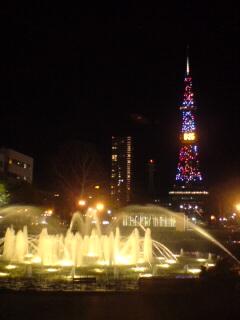 夜の大通り公園